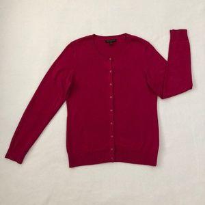 Banana Republic Cardigan Sweater Medium Pink